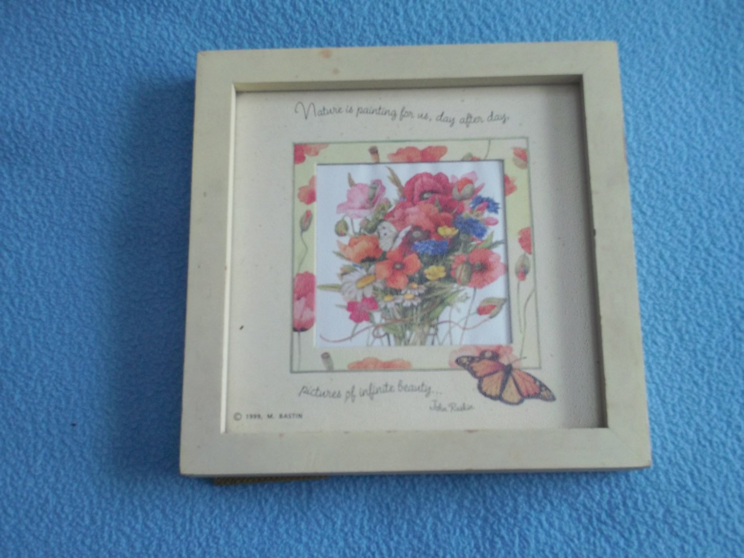 MARJOLEIN BASTIN PRINT IN FRAME~NATURE QUOTE~BUTTERFLIES FLOWERS LOVELY