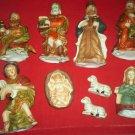 VINTAGE LARGER NATIVITY SET~CHRISTMAS~BOX~SET OF 9~HOLIDAY