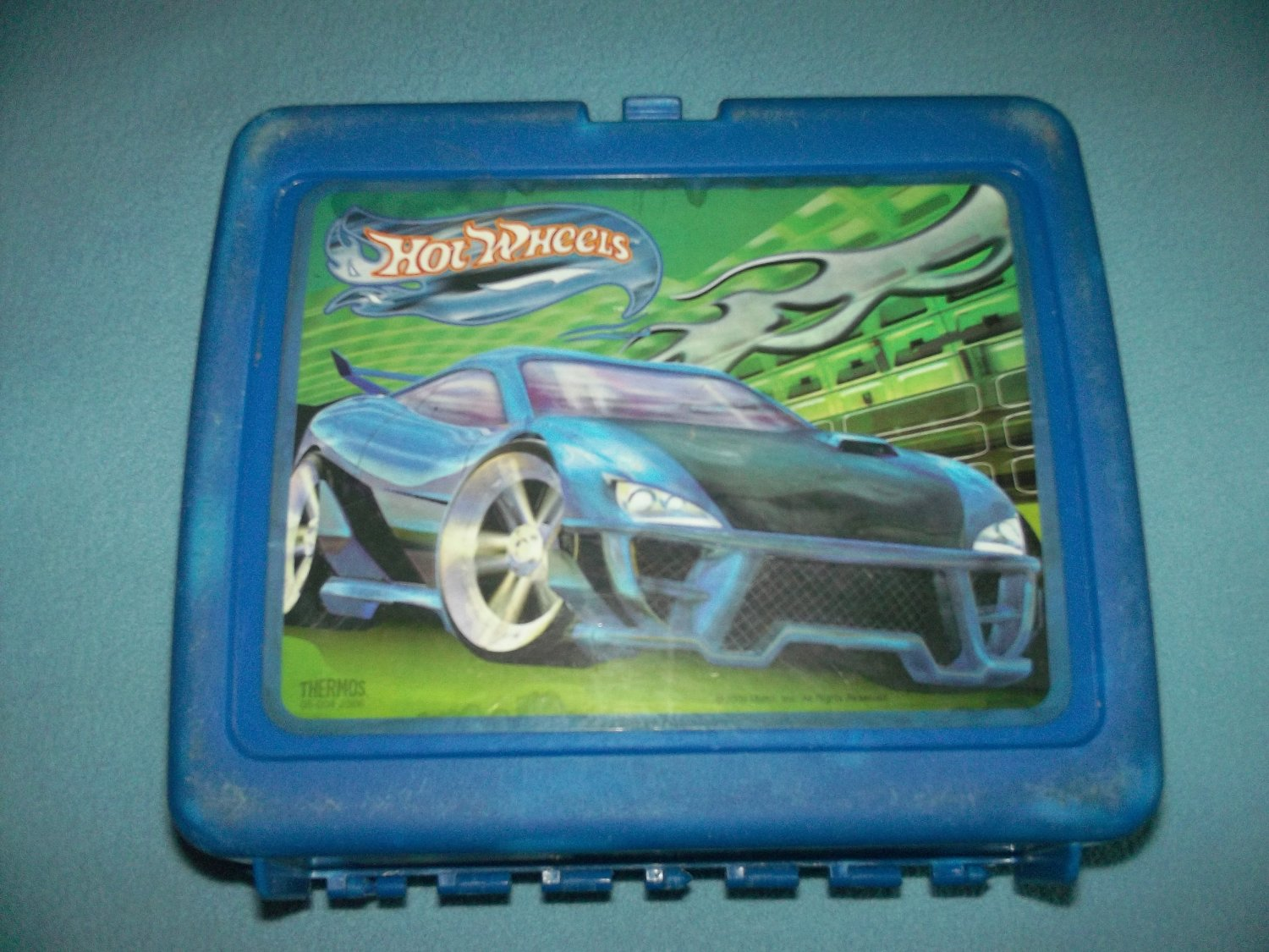 VINTAGE HOT WHEELS~MATTEL~LUNCH BOX~PLASTIC~2000 NO THERMOS