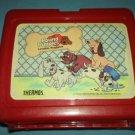 VINTAGE POUND PUPPIES~TONKA~LUNCH BOX~PLASTIC~1986 NO THERMOS