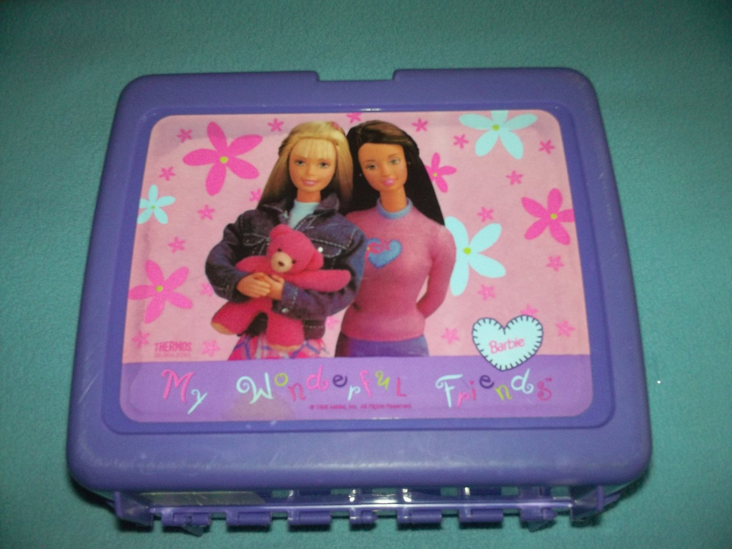 VINTAGE BARBIE~MY WONDERFUL FRIENDS~LUNCH BOX~PLASTIC~1998 NO THERMOS