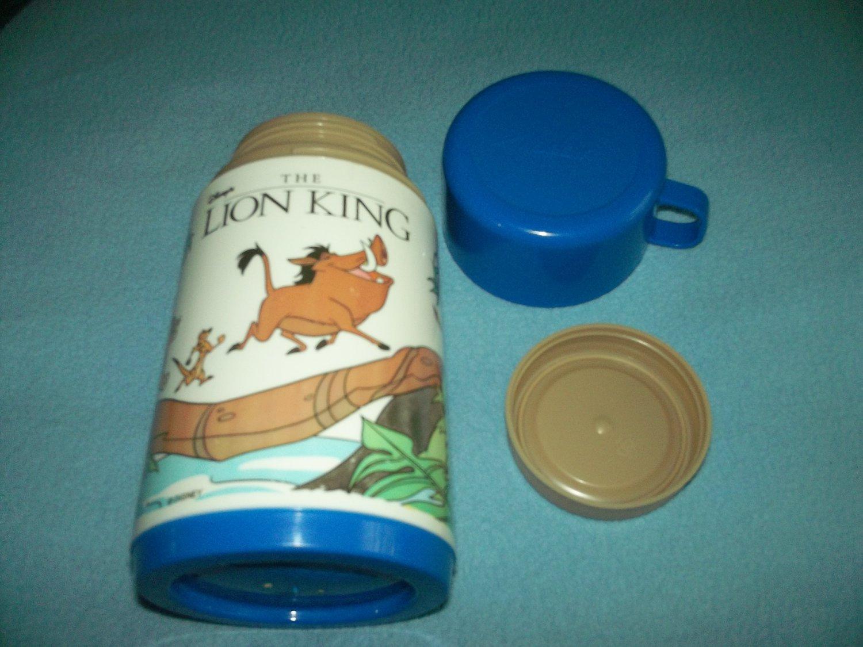 VINTAGE THE LION KING THERMOS~ALADDIN~~BLUE CAP~DISNEY