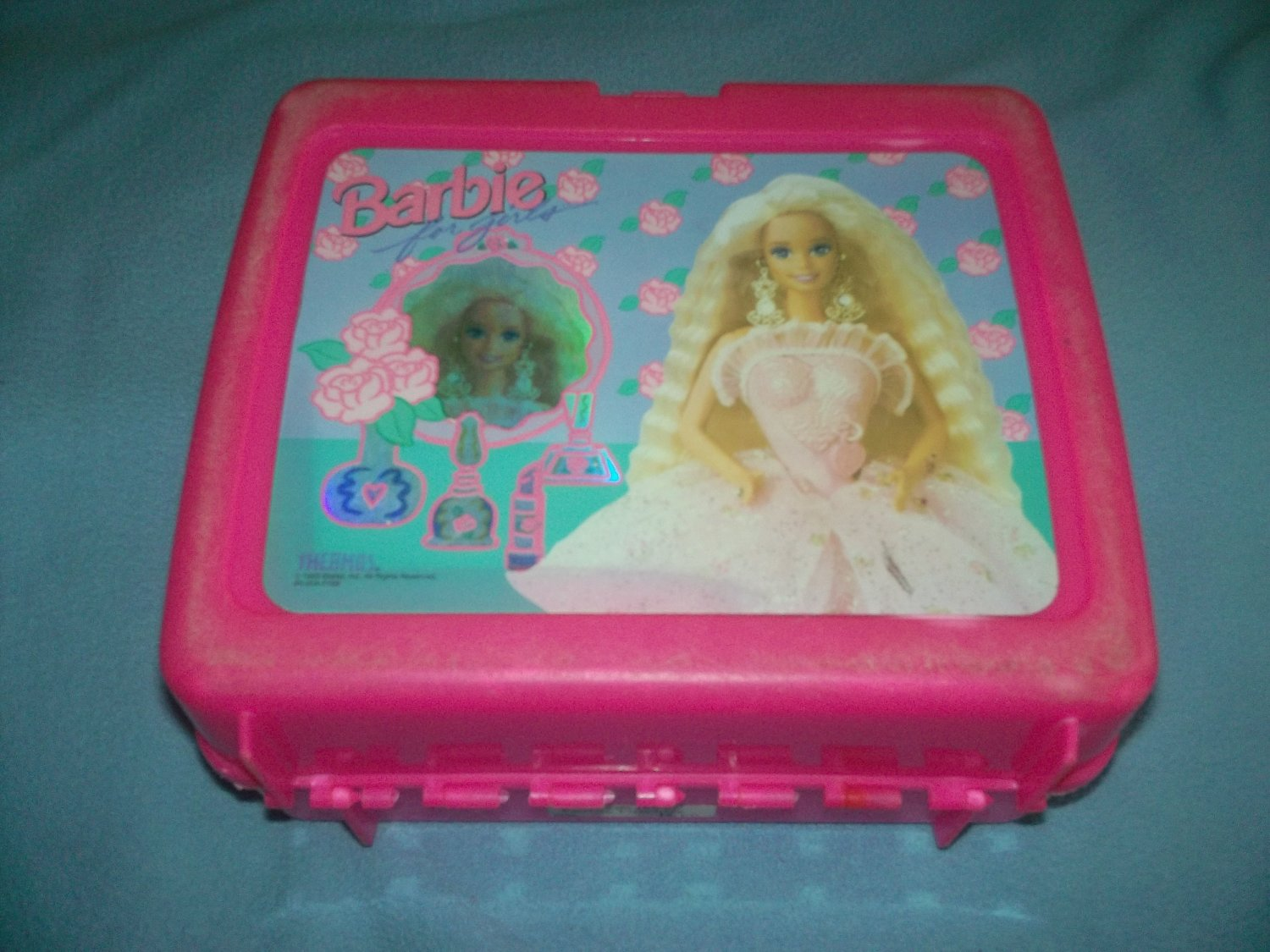 VINTAGE BARBIE FOR GIRLS~LUNCH BOX~PLASTIC~NO THERMOS~1993 MATTEL