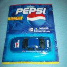 PEPSI COLA DIE CAST METAL CAR~MINT ON CARD~GOLDEN WHEEL~RACING