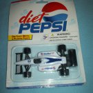 DIET PEPSI INDY RACER COLA DIE CAST METAL CAR~MINT ON CARD~GOLDEN WHEEL~RACING