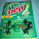MOUNTAIN DEW COLA INDY RACER DIE CAST METAL CAR~MINT ON CARD~GOLDEN WHEEL~RACING