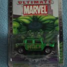 ULTIMATE MARVEL COMICS~DIE-CAST METAL CAR~MINT~ HULK GREEN HUMMER