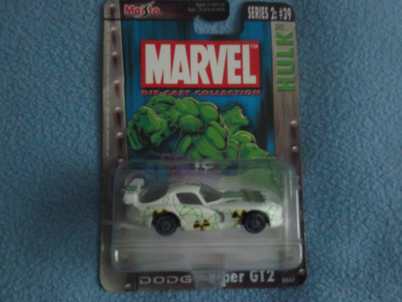 MARVEL COMICS~DIE-CAST METAL CAR~MINT~ HULK DODGE VIPER GT2