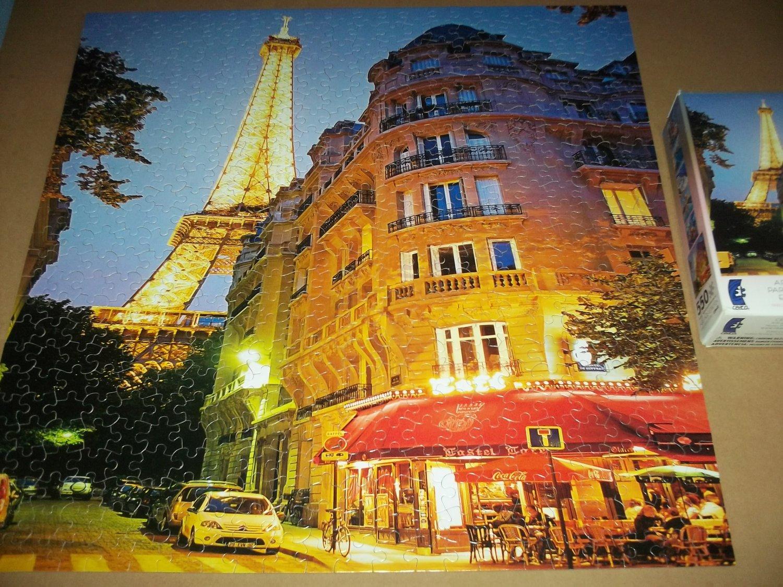 CEACO JIGSAW PUZZLE~AROUND THE WORLD~PARIS, FRANCE~550 PCS~COMPLETE~EIFFEL TOWER