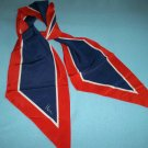 VINTAGE VERA NEUMANN LONG PENNANT SCARF ~RED/WHITE/NAVY ~ JAUNTY