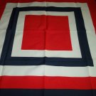 MICHELANGELO CAPRI ITALY SCARF ~BOLD RED WHITE AND BLUE~CLASSIC STYLE