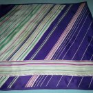 VINTAGE PAOLI SCARF ~GEOMETRIC~BOLD PURPLE, GREEN, WHITE AND PINK~VERY STYLISH