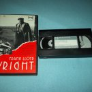 FRANK LLOYD WRIGHT~VHS~PORTRAIT OF AN ARTIST~ARCHITECTURE~DESIGN