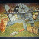 BITS AND PIECES STUDIO JIGSAW PUZZLE~SUMMER BREAK~GIORDANO~COMPLETE CATS 1500 PCS