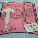 LIZ CLAIBORNE SPRING IN PARIS SCARF~PINK, WHITE, BLACK~CHIC~100% SILK