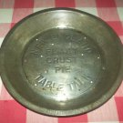 Vintage NEW ENGLAND FLAKY CRUST TABLE TALK Pie Tin Plate Pan~Bakeware~Advertising~Metal~Decor