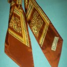 VINTAGE ROSSINI SCARF~BROWN/GOLD PAISLEY DESIGN~PENNANT STYLE~NICE