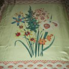 PERRY ELLIS SCARF~FLORAL DAFFODILS DESIGN~SILKY~LARGE