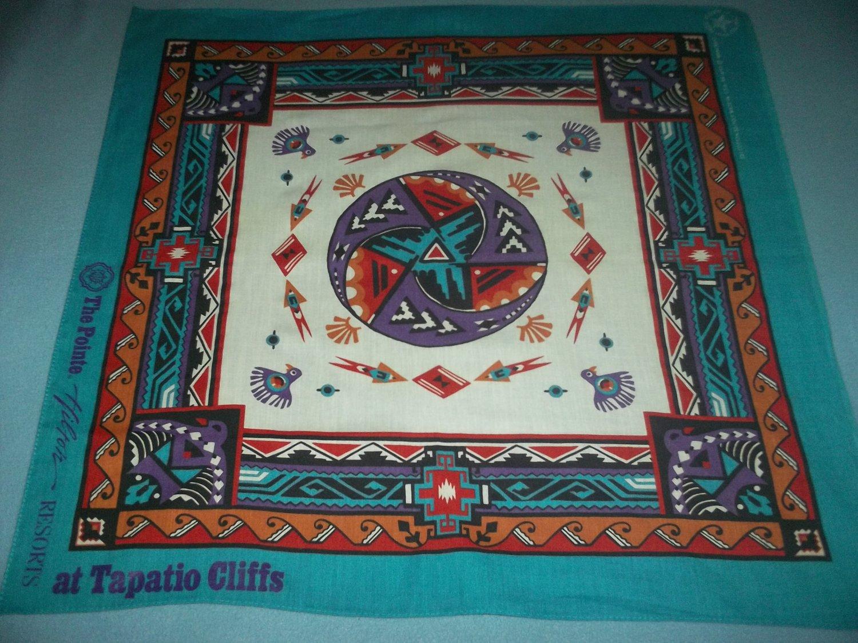 WAMCRAFT BANDANA~SOUTHWEST DESIGN~ADV. THE POINTE, HILTON RESORTS-TAPATIO CLIFFS