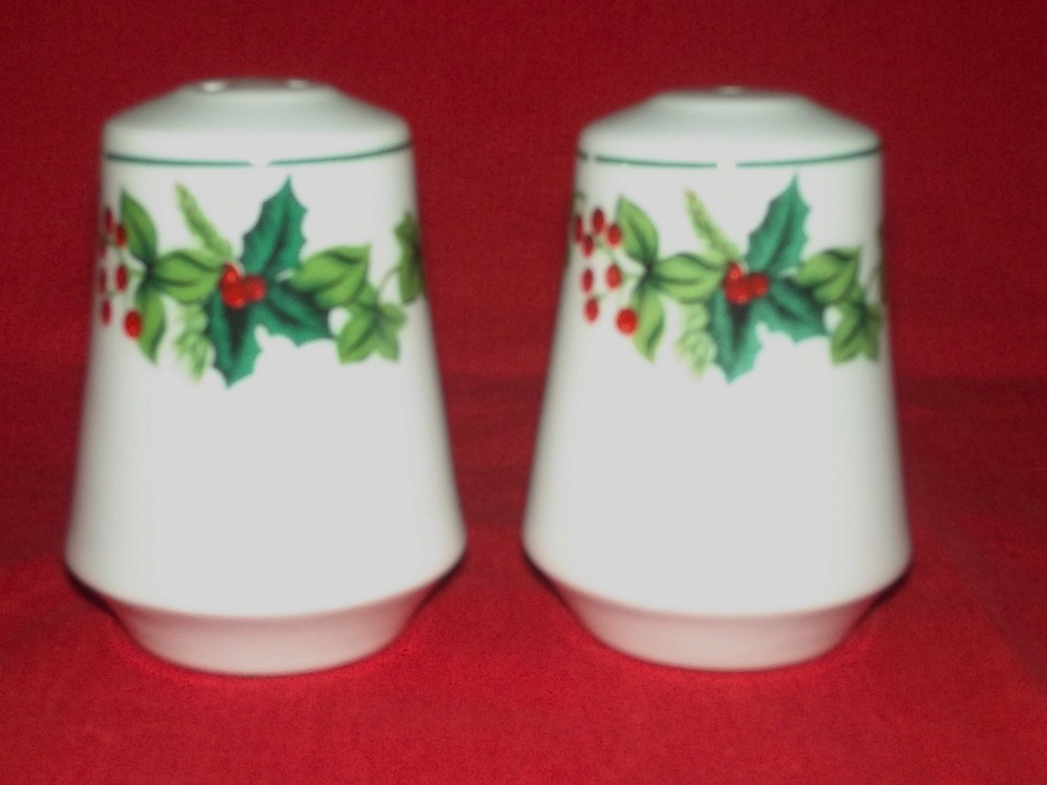 Christmas Holly And Ivy Salt And Pepper Shakers Set