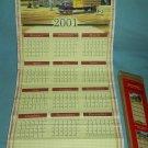 COCA COLA COKE 2001/2002 CALENDAR WALL-SCROLL REVERSIBLE ORIG. BOX