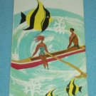 VINTAGE PAN AMERICAN HAWAII BROCHURE 1961 ISLANDERS IN BOAT FISH