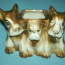 VINTAGE Luster Ware DOG PLANTER Japan RED MARK Scotties LUSTRE