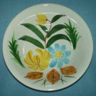 JAPAN Hand-Painted SERVING BOWL Vegetable YELLOW BLUE Flowers