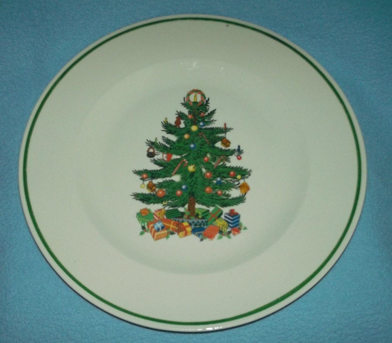 BADCOCK Christmas Tree DINNER PLATE 10.25 IN. ADVERTISING