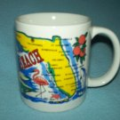 DAYTONA BEACH FLORIDA Souvenir MUG Map Flamingos Beach Girls