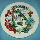 Vintage STATE OF  GEORGIA Souvenir Plate COLORFUL w/GA sites