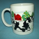 ROSEN Country Cows MUG 1997 RED BARN Cow