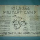 Vintage KILAUEA MILITARY CAMP Map HAWAII Mauna Loa KMC