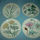 HERB PLATES Set of Four HORCHOW Made in Japan Colorful Vintage