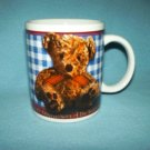 TEDDY BEAR 100th Anniversary MUG Blue White HOUSTON HARVEST