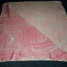 VINTAGE VERA NEUMANN SCARF Pink White HAND ROLLED Silk JAPAPN