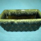 HULL POTTERY PLANTER ~DARK GREEN W/ FOAM DRIP~PRETTY