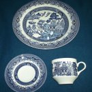 CHURCHILL Blue Willow 3 PCS Dinner Set PLATE CUP/SAUCER England Mint in Box