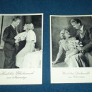 Vintage~Romantic~German~Postcard~Set of 2~ Black/White~Lovely Couple