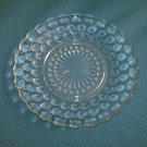 ANCHOR HOCKING Bubble BREAD PLATE Vintage CLEAR GLASS