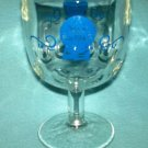 Vintage PABST BLUE RIBBON BEER Goblet Glass THUMBPRINT