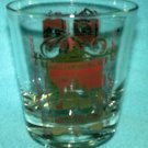 Vintage WILLIAMSBURG, VA Souvenir Drinking Cocktail GLASS Highball Red/Gold