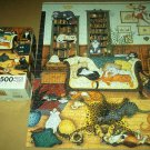 LINDA JANE SMITH Jigsaw Puzzle COLONIAL CAPERS Cats SOFT TOUCH 500 PC