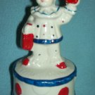 CIRCUS CLOWN BOY Music Box Figurine RED WHITE BLUE Rotating