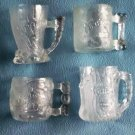 FLINTSTONES Collectible GLASSES MUGS Set of 4 McDonald's 1993 Glass