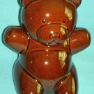 Vintage ARAMIS COLOGNE Brown Teddy Bear COOKIE JAR Advertising Promo