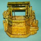 Vintage MCCOY POTTERY Wishing Well PLANTER With Pail/Chain MID CENTURY
