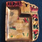Vintage UTAH Souvenir ASHTRAY Made in Japan COPPER COLOR Salt Lake City