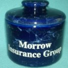 MORROW INSURANCE GROUP MIG Pottery Box ADVERTISING PROMO Cobalt Blue EAGLE mark