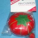 SINGER SEWING Strawberry Tomato EMERY Pin Cushion NEW IN PKG #00256